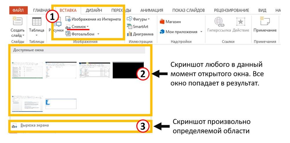 Как вставить скриншот в Powerpoint