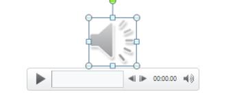 Аудио файл на слайде в презентации Поверпоинт